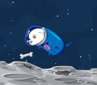 Space Dog - Obrázkek zdarma pro iPad Air