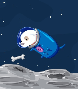 Space Dog - Obrázkek zdarma pro Nokia Asha 300