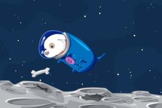 Space Dog - Obrázkek zdarma pro Fullscreen Desktop 1400x1050