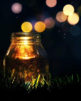 Glass jar in night - Obrázkek zdarma pro iPhone 6 Plus