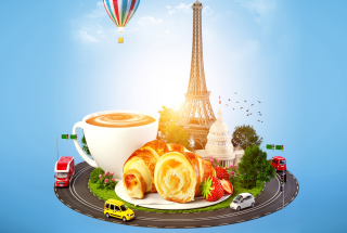 France Breakfast Wallpaper for Android, iPhone and iPad