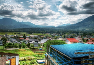 Rural Japan Background for Android, iPhone and iPad