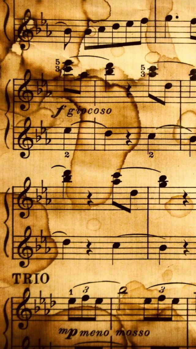 Pictures Of Yellowed Sheet Music From Cats