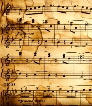 Music Notes - Obrázkek zdarma pro 320x480