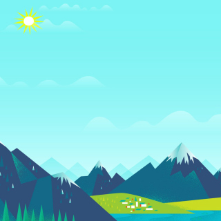 Drawn Mountains - Obrázkek zdarma pro iPad 2