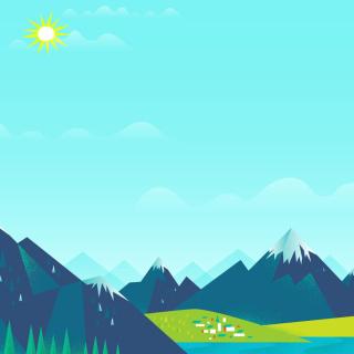 Drawn Mountains - Obrázkek zdarma pro 2048x2048