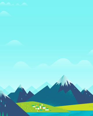 Drawn Mountains - Obrázkek zdarma pro Nokia C5-03