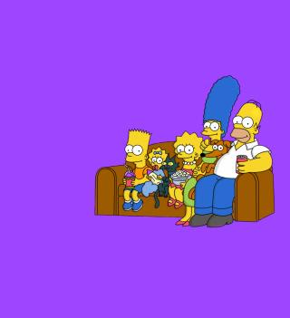 The Simpsons Family - Obrázkek zdarma pro 320x320