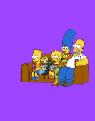 The Simpsons Family - Obrázkek zdarma pro Nokia Asha 202