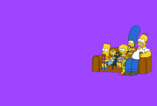 The Simpsons Family - Obrázkek zdarma pro 480x360