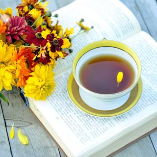Tea and Book - Obrázkek zdarma pro iPad