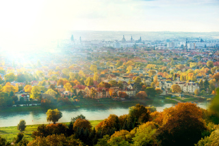 Dresden In Sun Lights Picture for Android, iPhone and iPad