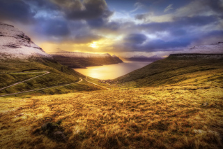 Faroe Islands Landscape Background for Android, iPhone and iPad