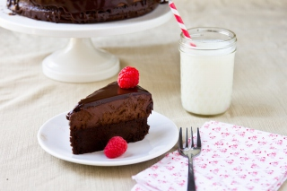 Free Fudge cake Picture for Android, iPhone and iPad