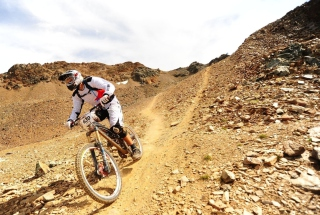 Mountain Biker Picture for Android, iPhone and iPad