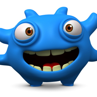Cute Blue Cartoon Monster - Obrázkek zdarma pro iPad mini 2