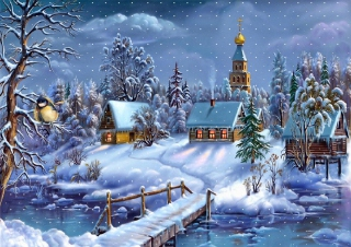 Christmas Night Wallpaper for Android, iPhone and iPad