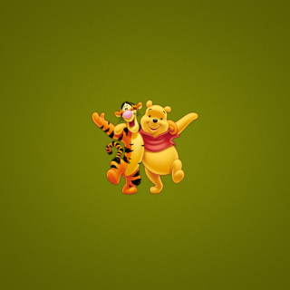 Winnie The Pooh And Tiger - Obrázkek zdarma pro iPad mini 2