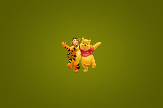 Winnie The Pooh And Tiger - Obrázkek zdarma pro Samsung Galaxy S6 Active