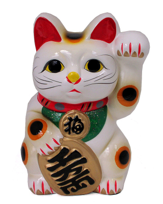 Maneki Neko Lucky Cat Background for Nokia N8