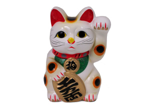Maneki Neko Lucky Cat Background for Android, iPhone and iPad