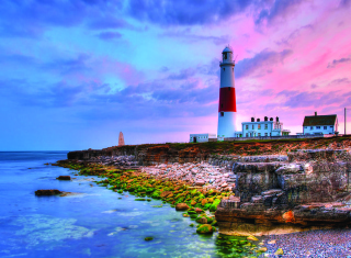 Lighthouse In Portugal Background for Android, iPhone and iPad