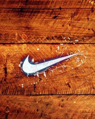 Wooden Nike Logo - Obrázkek zdarma pro 240x400