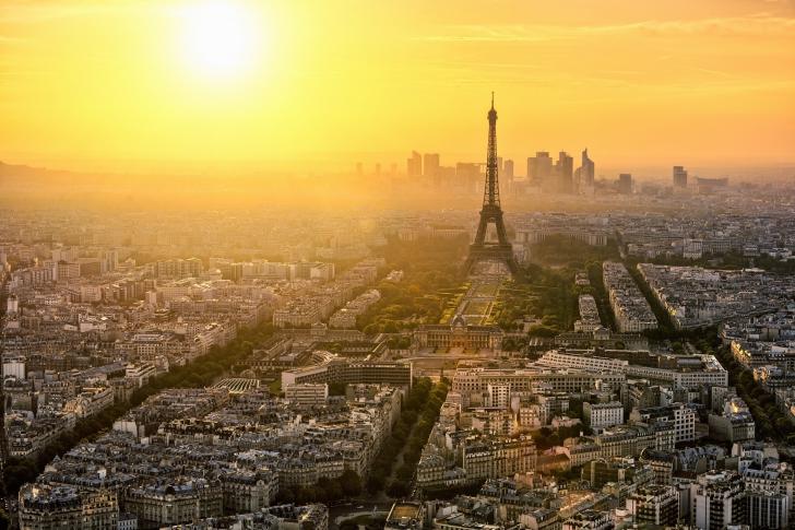 Paris Sunrise wallpaper