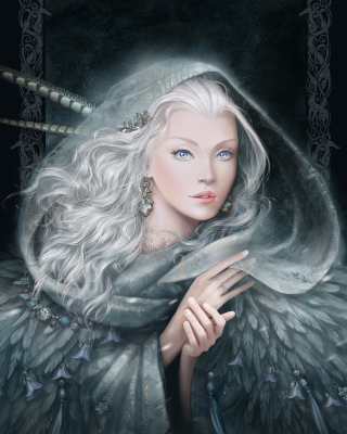 White Fantasy Princess - Obrázkek zdarma pro iPhone 4S