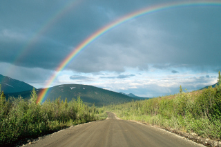 Free Rainbow In Alaska Picture for Android, iPhone and iPad