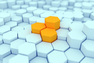 Cubes Cell Structure Background for Android, iPhone and iPad