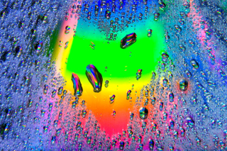Free Heart of Water Drops Picture for Nokia Asha 200