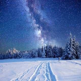 Milky Way on Winter Sky - Obrázkek zdarma pro iPad 3