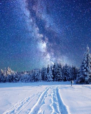Milky Way on Winter Sky - Obrázkek zdarma pro Nokia Asha 501
