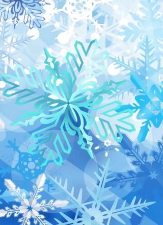Christmas Snowflakes - Obrázkek zdarma pro Nokia Asha 305