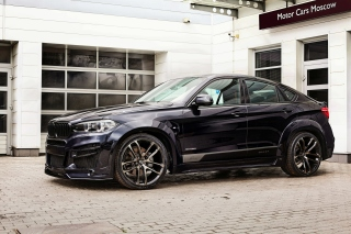 BMW X6 Black with Leather Seats - Obrázkek zdarma pro LG P500 Optimus One