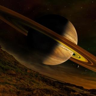 Planet Saturn - Obrázkek zdarma pro iPad 3