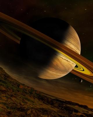 Planet Saturn - Obrázkek zdarma pro Nokia X2
