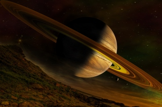 Planet Saturn - Obrázkek zdarma pro Samsung Galaxy S6 Active