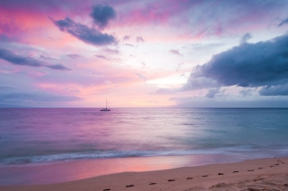 Twilight On The Beach Wallpaper for Android, iPhone and iPad