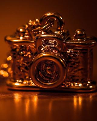 Vintage Golden Camera - Obrázkek zdarma pro 360x480