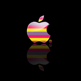 Colorful Stripes Apple Logo - Obrázkek zdarma pro iPad Air