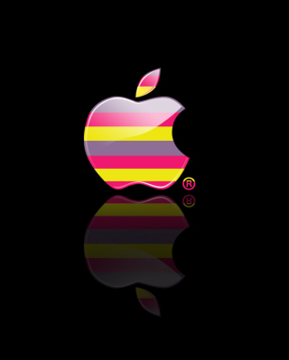 Colorful Stripes Apple Logo - Obrázkek zdarma pro iPhone 3G