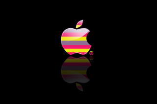 Colorful Stripes Apple Logo - Obrázkek zdarma pro Samsung T879 Galaxy Note