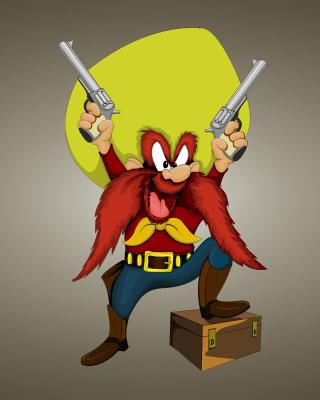 Looney Tunes   Yosemite Sam - Obrázkek zdarma pro Nokia Asha 306