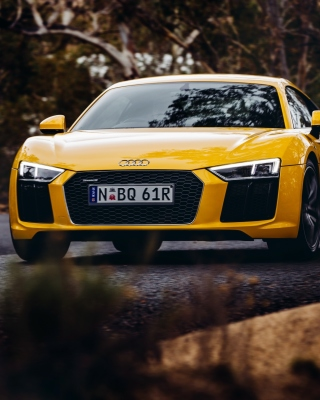 Audi R8 V10 Plus Yellow Body Color - Obrázkek zdarma pro iPhone 6 Plus