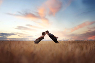 Couple Kiss Bokeh Wallpaper for Android, iPhone and iPad