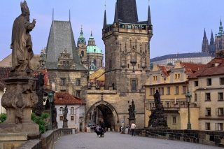 Charles Bridge Prague - Czech Republic - Obrázkek zdarma pro Widescreen Desktop PC 1680x1050
