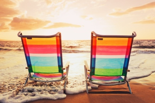 Beach Chairs Picture for Android, iPhone and iPad