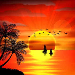 Beautiful Sunset - Obrázkek zdarma pro 1024x1024
